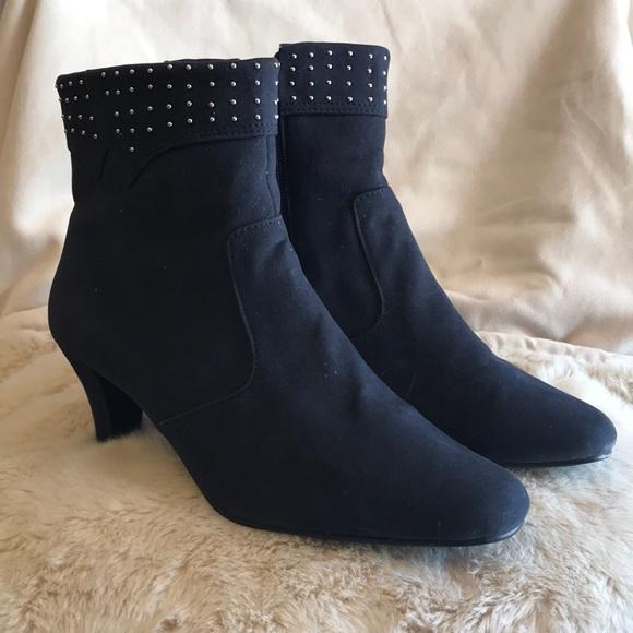 Annie Shoes   Annie Navy Blue Ankle